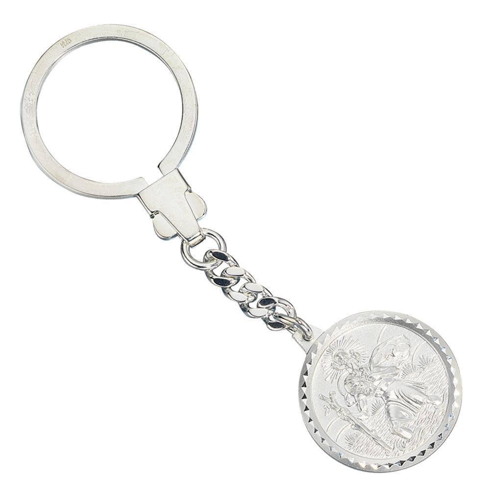 Schlüsselanhänger Schutzpatron Christopherus 925 Sterling Silber