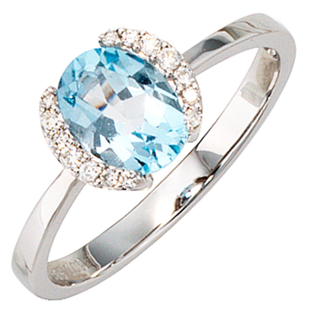 damen ring 585 gold gelbgold 12 diamanten 1 blauer safir. Black Bedroom Furniture Sets. Home Design Ideas