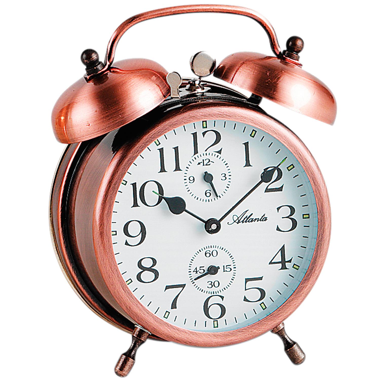Atlanta 1058/18 mecánico Despertador Reloj DE Campana ...