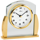 Atlanta 3038/9 Stiluhr Tischuhr Quarz analog golden mit Glas