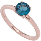 Damen Ring 585 Gold Rotgold 1 Blautopas blau London blue Goldring Rotgoldring