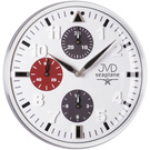 JVD HA15.2 Wanduhr Quarz analog weiß funktionslose Chronograph-Optik