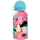 MINNIE MOUSE Kinder Trinkflasche aus Aluminium rosa 400 ml