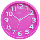 JVD HA48.5 Wanduhr Quarz analog pink leise ohne Ticken